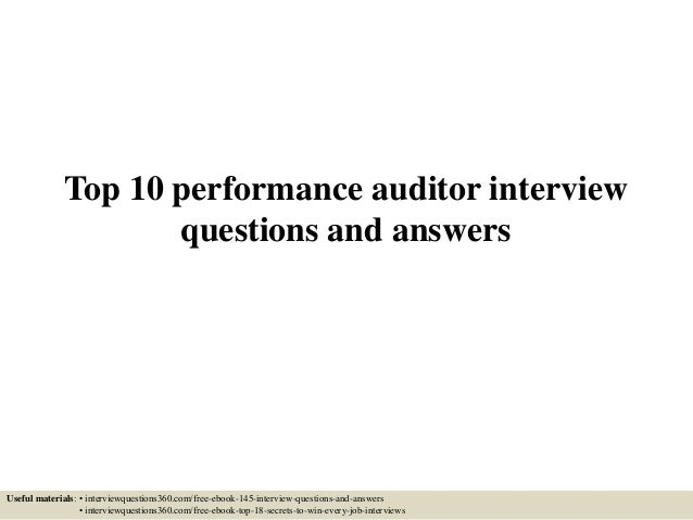 top 10 performance auditor interview questions and answers