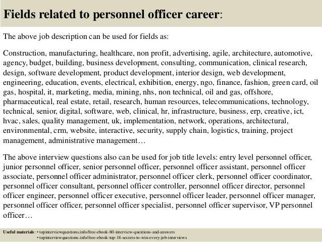 Job description example.