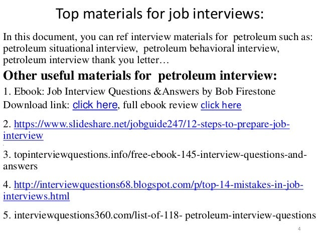 Top  Petroleum Interview Questions With Answers