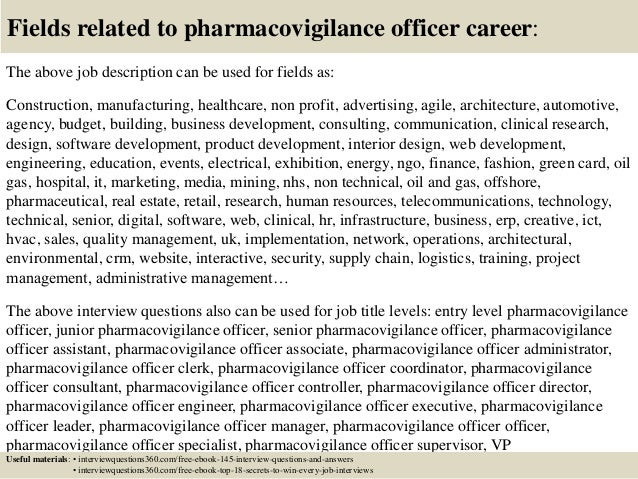top 10 pharmacovigilance officer interview questions and