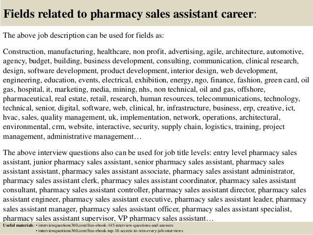 sales assistant job role