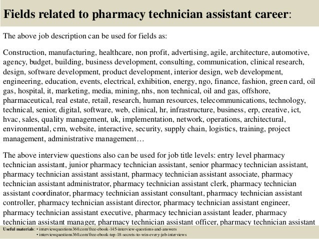 Top 10 pharmacy technician assistant interview questions and answers