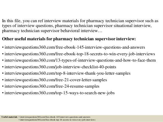 pharmacy tech interview