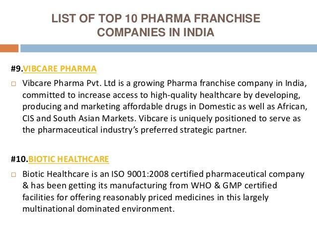 Top 10 Pharma Franchise Companies in India - 2018