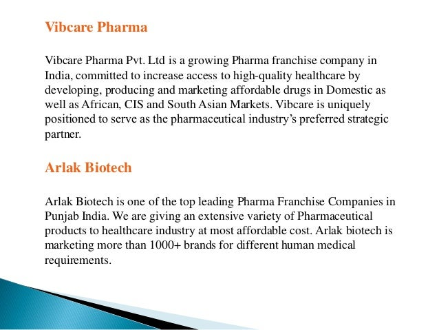 Top 10 Pharma Franchise Companies in India - 2018 List by