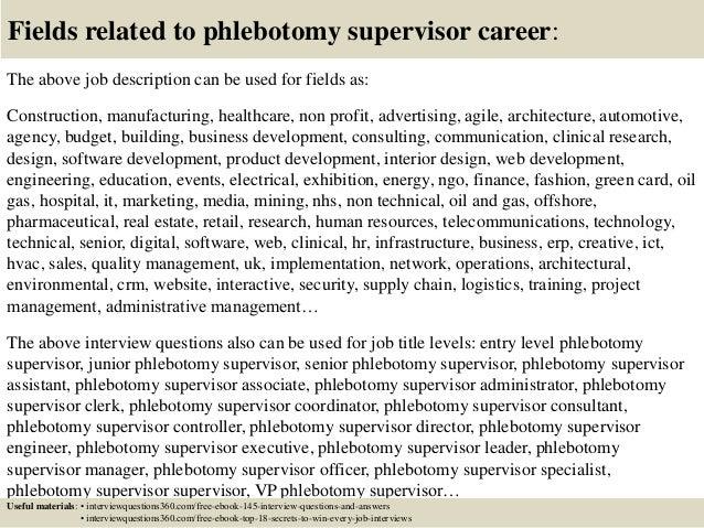 phlebotomist job description for resumes