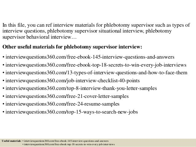 Top 10 Phlebotomy Supervisor Interview Questions And Answers