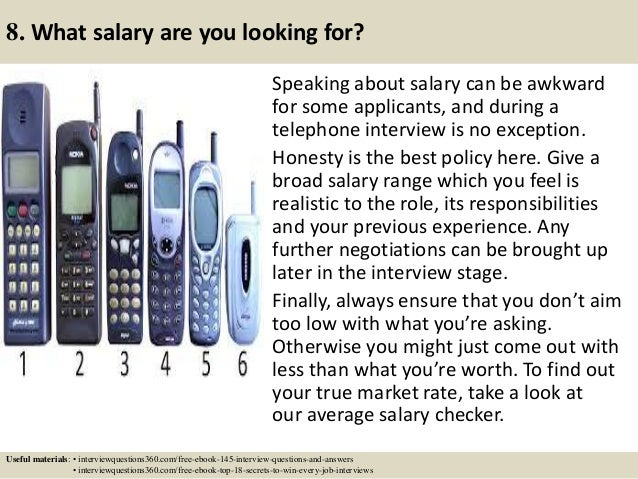 how to answer phone interview