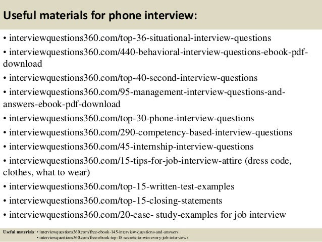 standard behavioral interview questions