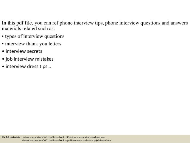 3 in this pdf file you can ref phone interview tips - Phone Interview Tips For Phone Interviews