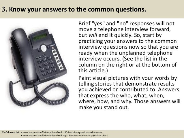 how to answer the phone for a phone interview