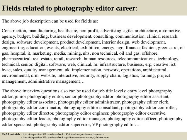 Top 10 Photography Editor Interview Questions And Answers