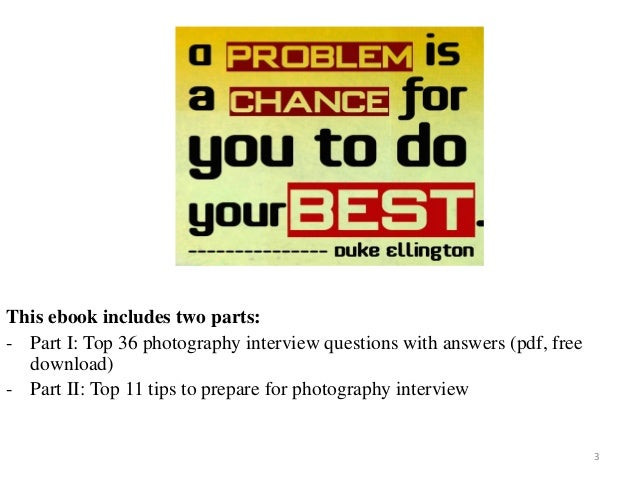 Top 36 photography interview questions with answers pdf fandeluxe Image collections