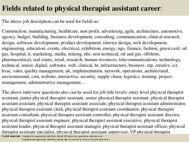 Top 10 Physical Therapist Assistant Interview Questions And Answers