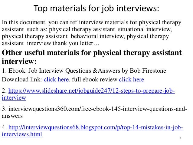 top 52 physical therapy assistant interview questions and answers pdf