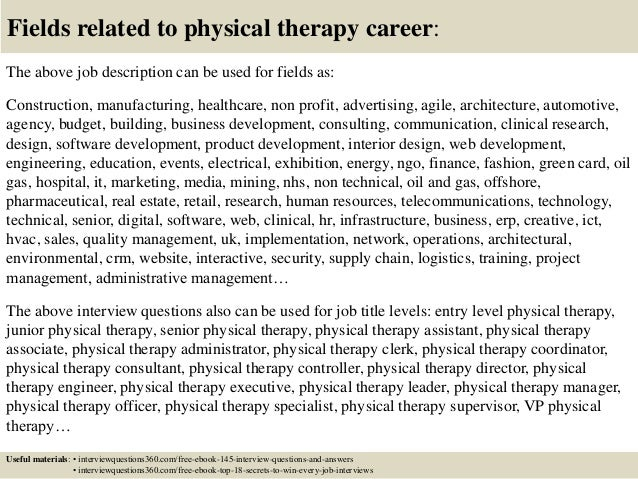 Top 10 physical therapy interview questions and answers