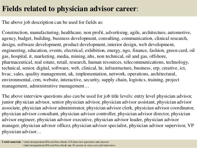 Top 10 physician advisor interview questions and answers