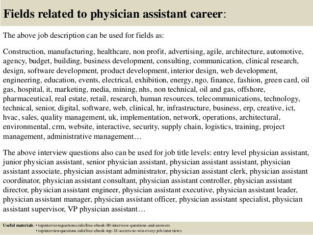 Top 10 physician assistant interview questions and answers