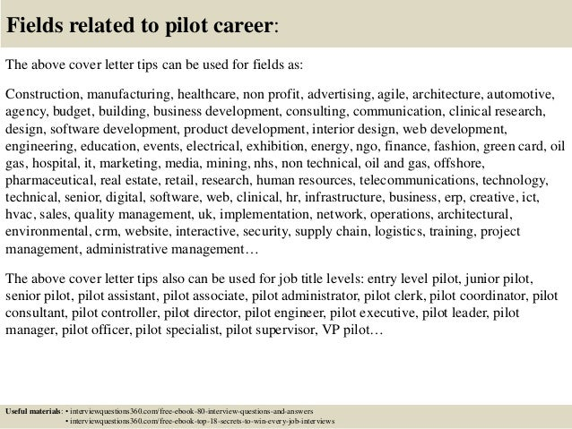 ... 16. Fields Related To Pilot Career: The Above Cover Letter Tips ...  Cover Letter Tips