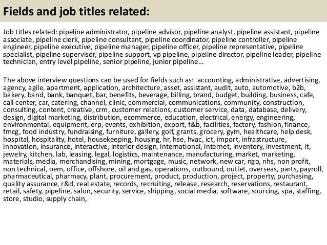 21 - Pipeline Engineer Sample Resume