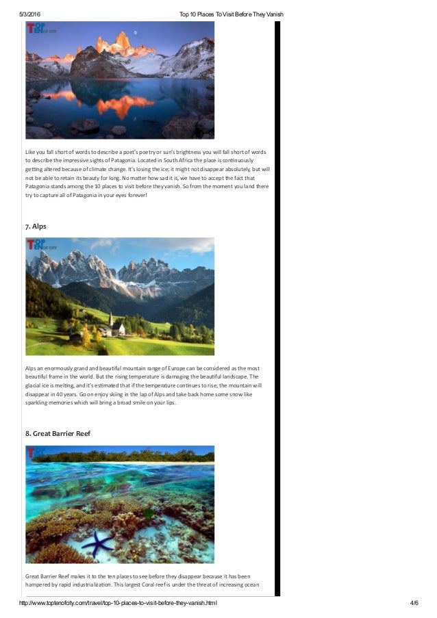 Patagonia 4 5 3 2016 Top 10 Places To Visit Before They Vanish