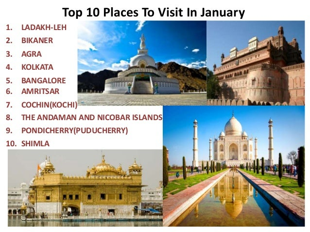 Top 10 places to visit in january for Top ten places to vacation