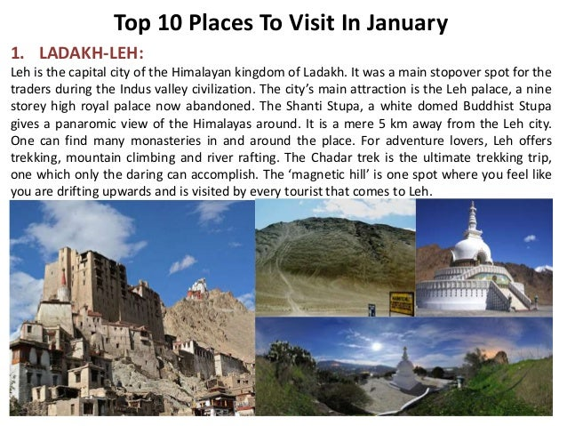 top 10 places to visit in january ForWhere To Vacation In January
