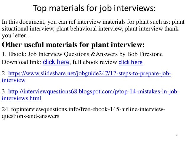Top 36 plant interview questions with answers pdf interview 4 fandeluxe Images