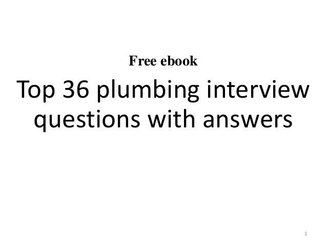 Top 36 plumbing interview questions with answers pdf free ebook top 36 plumbing interview questions with answers 1 fandeluxe Images