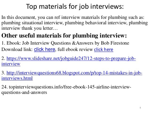 Top 36 plumbing interview questions with answers pdf top materials fandeluxe Images
