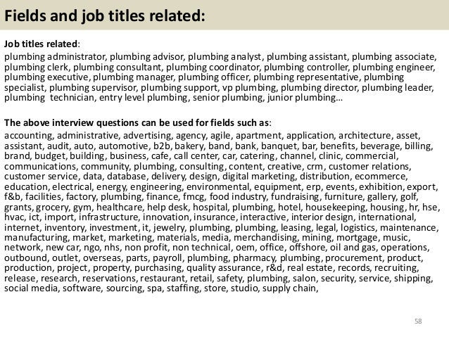top 36 plumbing interview questions with answers pdf