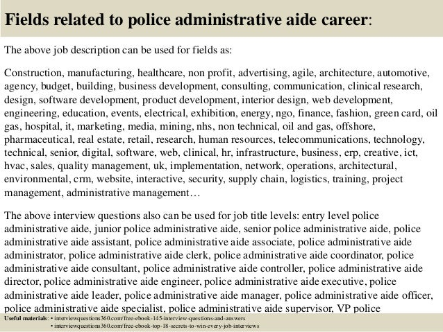top 10 police administrative aide interview questions and answers rh slideshare net Roma Downey Roma Downey
