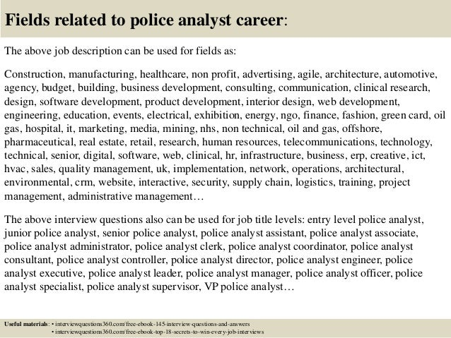 Top 10 police analyst interview questions and answers