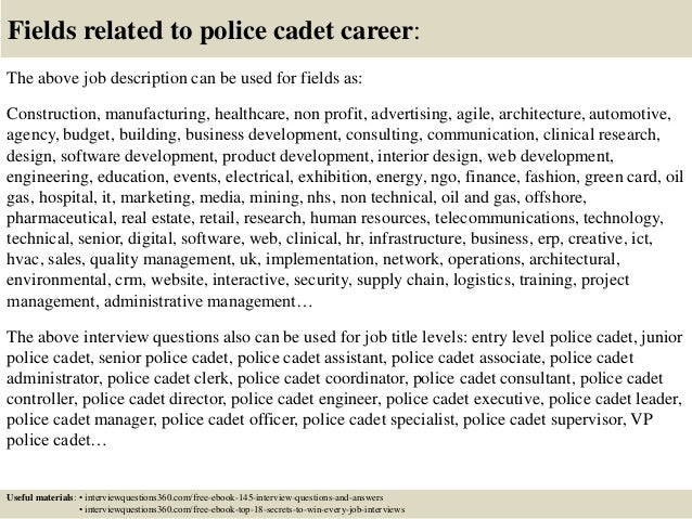 Top 10 Police Cadet Interview Questions And Answers