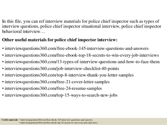 top 10 police chief inspector interview questions and answers. Resume Example. Resume CV Cover Letter