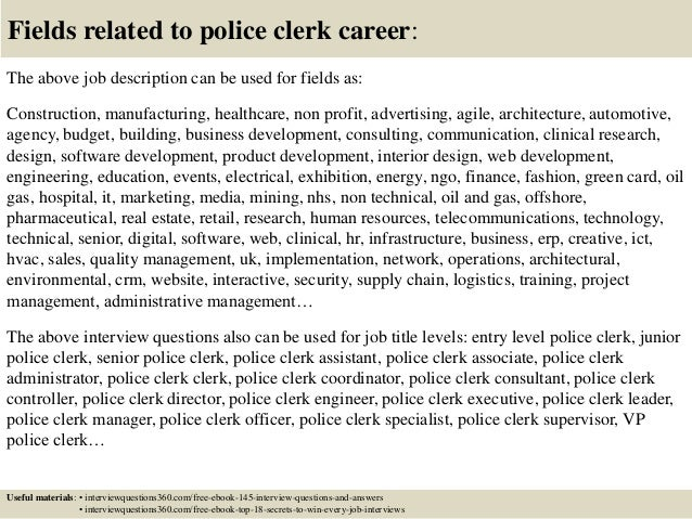 Top 10 police clerk interview questions and answers 18 fields related to police fandeluxe Images