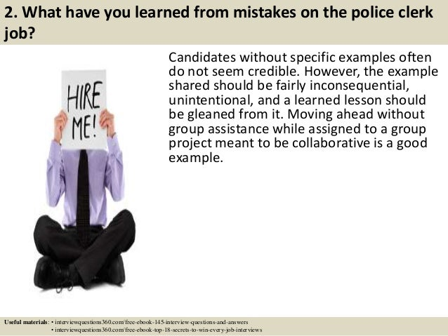 Top 10 police clerk interview questions and answers