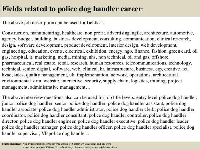 Police Dog Handler Cover Letter] Police Dog Handler Cover Letter ...