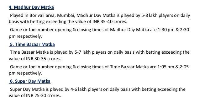 Top 10 popular mumbai matka games