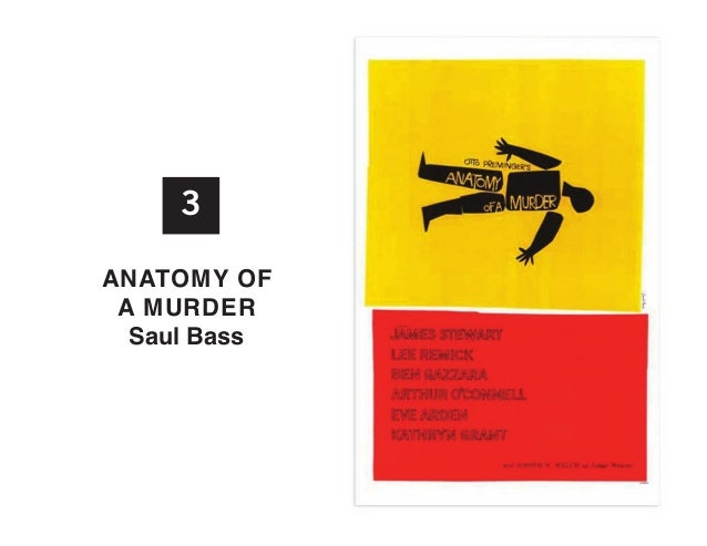 3 anatoMy of a MuRDER Saul Bass