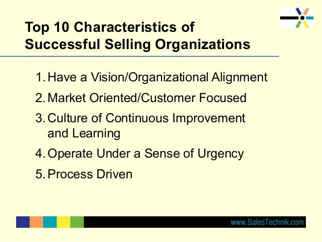 Top 10 practices of Successful Selling Organizations Slide 3