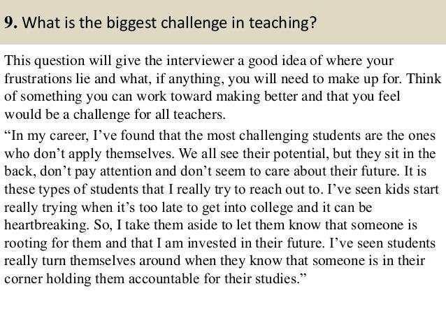 kindergarten teacher interview