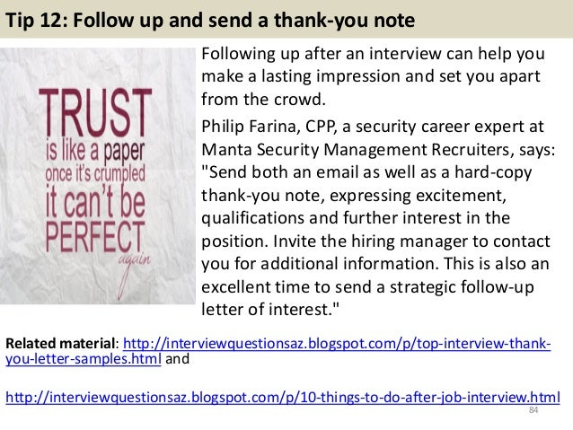 thank you letters after teacher interview