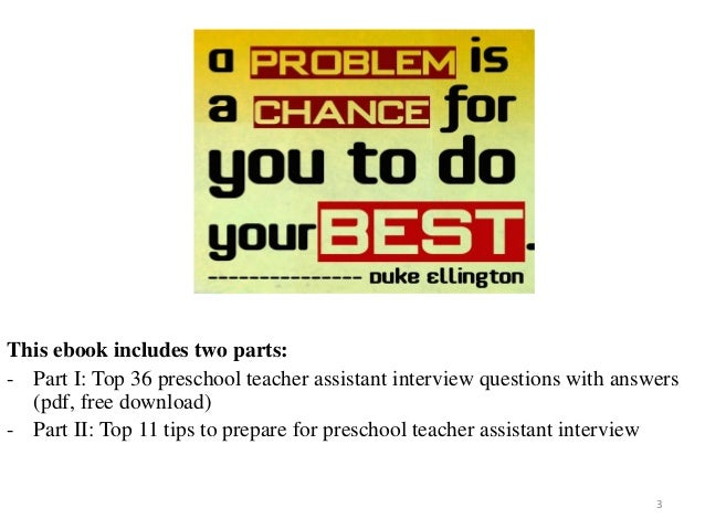 preschool teacher assistant interview questions with answers on mar 2017 3