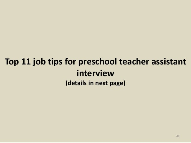 interview questions for assistant teachers