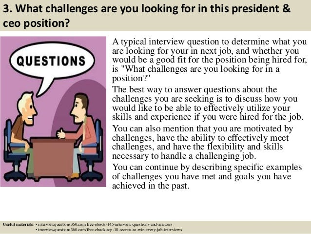 Top 10 president & ceo interview questions and answers
