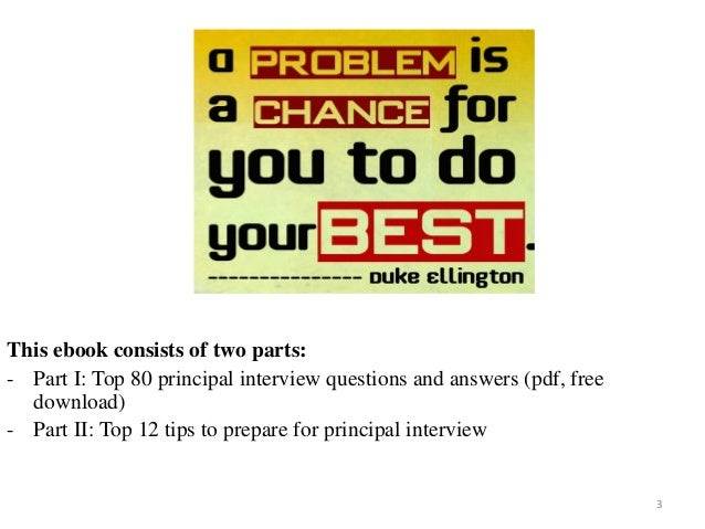 80 principal interview questions with answers fandeluxe Image collections