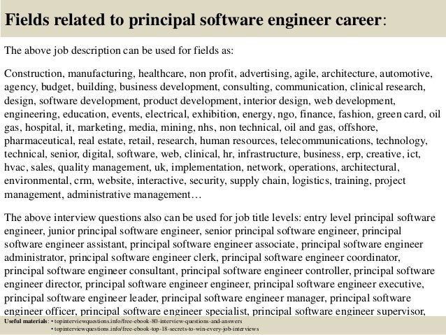 Top 10 principal software engineer interview questions and answers – Software Engineer Job Description