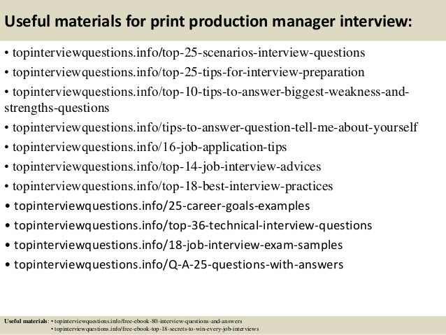Print Production Manager Job Description | Template