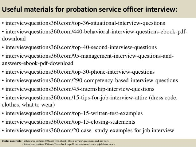 Top 10 probation service officer interview questions and answers
